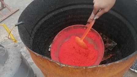 中医传统工艺黑膏药熬制炼油下丹工艺过程实录