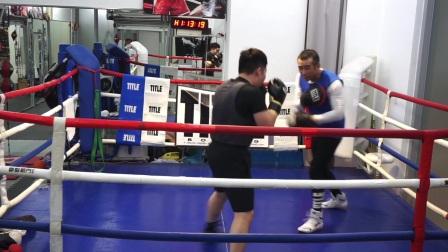 5/7拳击远距离·旋转后背·躲闪还击直拳勾拳摆拳快速连击打打手靶·北京拳击刘教练Mark Boxing·2021.