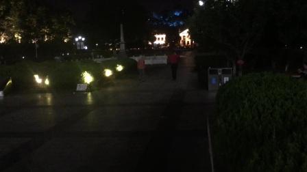 热闹非凡武汉辛亥革命博物馆夜景