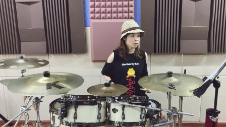 【架子鼓】《Justin time》杜晓颖 女鼓手