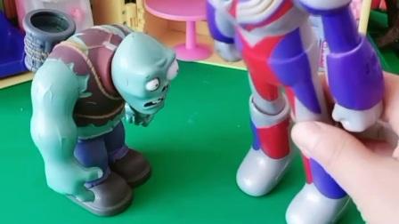 巨人僵尸成了奥特曼的老板,真是太嚣张了,奥特曼一点地位都没有