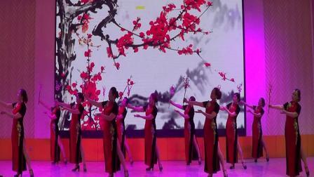 绵竹市老年大学时装(旗袍表演秀《红梅赞》)我就是我,2021.6.11.