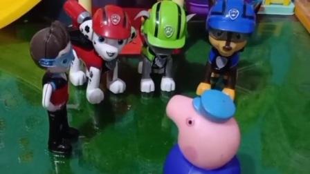 猪爷爷的牛先生丢了,狗狗汪汪队出动,帮猪爷爷找找牛先生吧