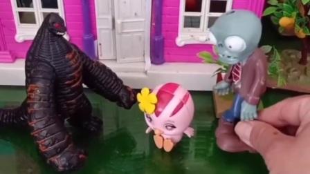怪兽变好了,想保护小朋友,从阻止僵尸做坏事开始吧