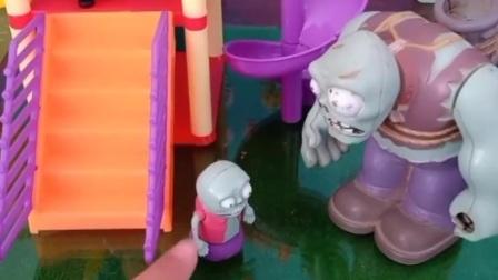 小鬼也想玩,巨人僵尸要把佩奇乔治赶走,佩奇乔治该怎么办?