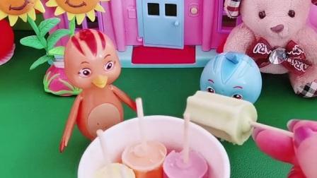 """鸡妈妈为了不让欢欢吃雪糕,也是""""煞费苦心""""啊,雪糕怎么会辣呢?"""