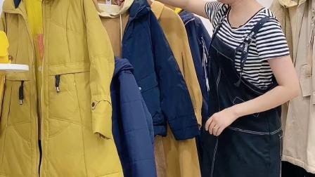 休闲大码女装约布21冬折扣女装尾货批发