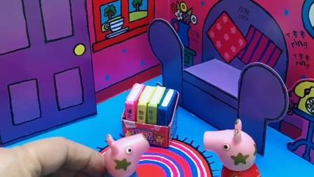 益智玩具:猪妈妈不在家,佩奇能照顾好年幼的乔治吗?