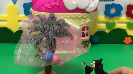 益智玩具:巫婆抓了乔治,猪爸爸趁着巫婆睡着赶紧救人