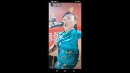 坠子名家胡银花演唱长篇大书《薛仁贵》片段上。