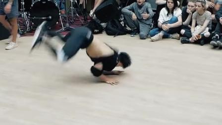 中外国际街舞大战这是中国选手bboy浩然HR