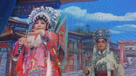方城青年曲剧团于2021年7月11日下午在小史店联沟村演出【逼汉王】。