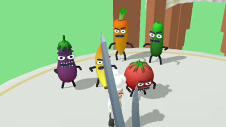 趣味小游戏:水果中了魔法,都变成了坏人