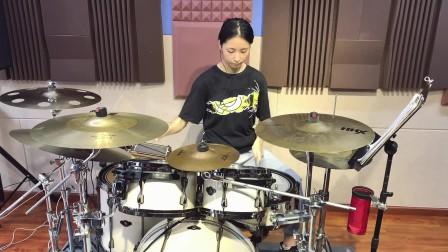 【架子鼓】王力宏《龙的传人》喻奥钒 女鼓手