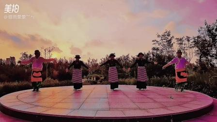 锅庄舞《扎西德勒》维健老师编舞,和平乐宝蒙蒙君子杰琳学跳