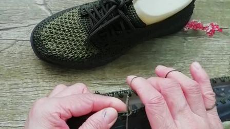 燕大姐手工坊一男女通用款系带休闲鞋教程。空心线手工钩织教程一。