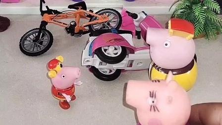 乔治太淘气了,猪妈妈把他扔出来了