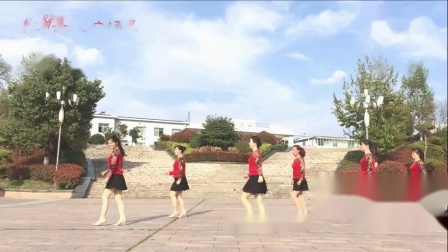 紫月蔷薇广场舞 旋转恰恰(正背面演示及分解)