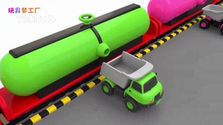 我在卡车装载颜色球 彩虹火车 宝宝识色截了一段小视频