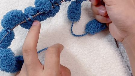 雅馨绣坊球球线加密盖毯编织教程1