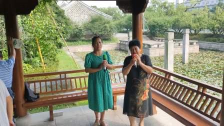 2021年9月|18日,西塘公园《越剧》山河恋送信,林美~陈姐演唱,甬闻录制。