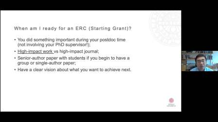 Applying for an ERC grant: Learn from Scientific Officers and a Grantee - 2021