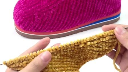 雅馨绣坊金丝绒棉鞋编织教程视频第三集