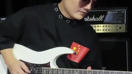 电吉他《灰色轨迹尾奏》91年现场演唱会版!(张俊文)