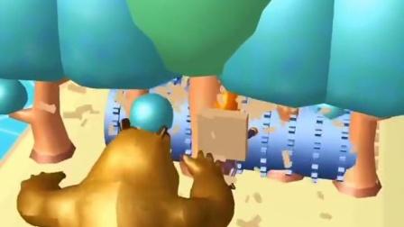 趣味小游戏:熊二发现光头强砍树,打算教训一下他