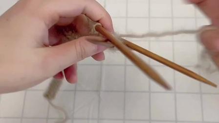 雅馨绣坊手工编织围巾视频:叶子花围巾3