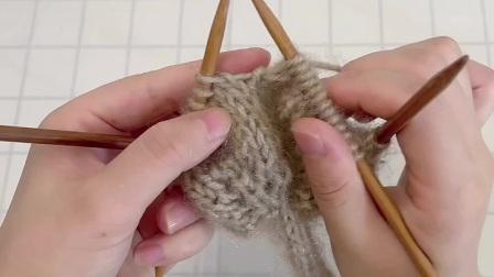 雅馨绣坊手工编织围巾视频:叶子花围巾4