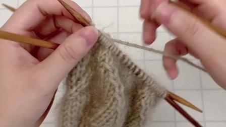 雅馨绣坊手工编织围巾视频:叶子花围巾5
