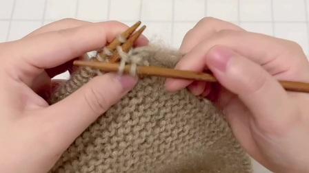 雅馨绣坊手工编织围巾视频:叶子花围巾6