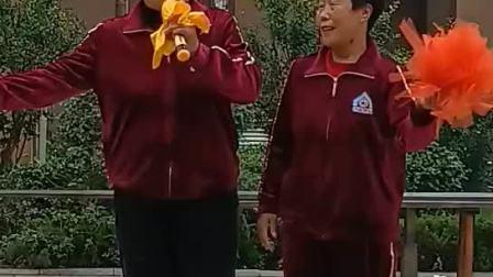 双脚踏上幸福路:'夏津县德合圆好姐妹舞队:张玉萍唱(同恩上传))2021.10.17