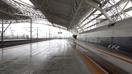 2021年10月13日,G127次(北京南站-上海虹桥站)本务中国铁路北京局集团有限公司北京南动车运用所CR400BF-G-5126+5127昆山南站进站