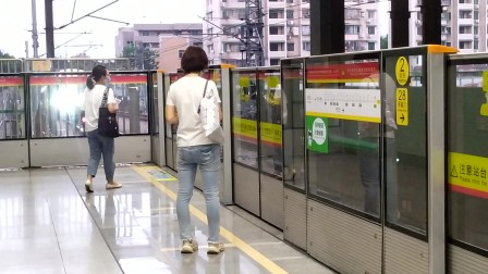 【广州地铁1号线】广州地铁1号线A1型电客车(1x09-10)坑口站下行进站
