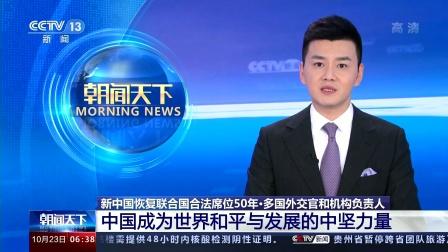多国外交官和机构负责人:中国成为世界和平与发展的中坚力量