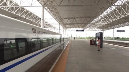 2021年10月15日,G1632次(福州站-上海虹桥站)本务中国铁路南昌局集团有限公司福州动车段厦门北动车运用所CRH380AL-2550嘉兴南站进站