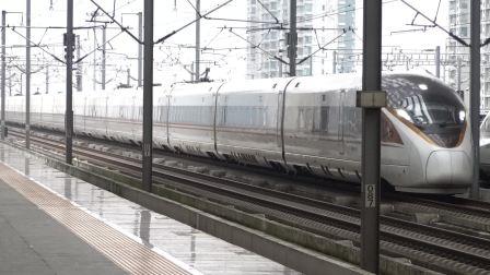 2021年10月15日,G1814次(上海虹桥站-郑州东站)本务中国铁路郑州局集团有限公司郑州动车段郑州东动车运用所CR400BF-A型昆山南站通过