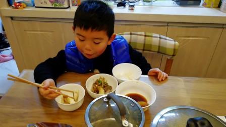 【6岁半】1-26哈哈品尝爷爷做的美食,鱼和五花肉炖萝卜VID_173752
