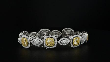 #JCBF05391340#总重7.29克拉黄钻手链