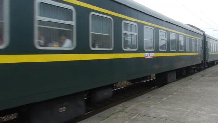 萧甬线 上局沪段 SS80179牵引K75(长春-宁波)次进绍兴站2站台