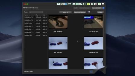 用WIFI Control for Cameras在Mac无线连佳能相机下载照片