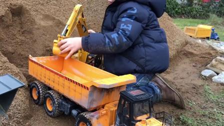 [工程车玩具]挖掘机/铲车/卡车/压路机/工程车玩具视频合集8