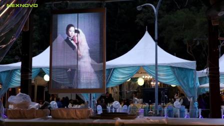 NEXNOVO晶泓科技-NP智能透明LED海报屏婚宴项目
