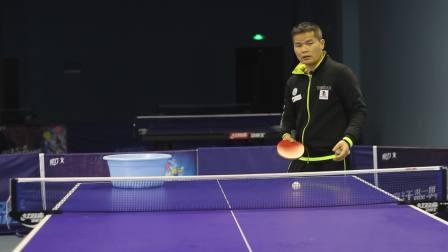 「黄河教练教你打乒乓」第1集:侧上旋球的训练方法