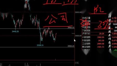 2021.3.26上证指数C浪3-3-1或来临?-元吉波浪(视频)