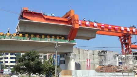 大开眼界!  高铁铺设高架桥  .中铁二十一局集团