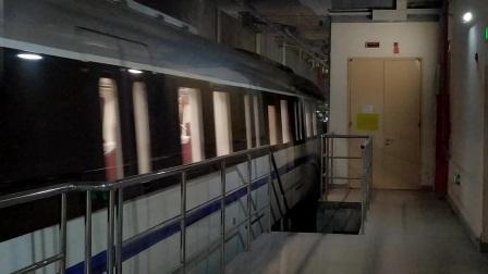 【广州地铁18号线】广州地铁18号线D1型电客车(18x041-042)冼村站下行出站切割存车线、正线