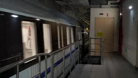 【广州地铁18号线】广州地铁18号线D1型电客车(18x029-030)冼村站下行出站切割存车线、正线